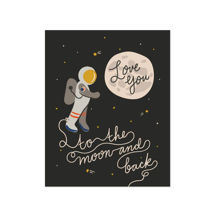 Moon and Back Art Print