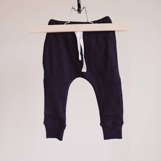 Ribbed Jogger Black