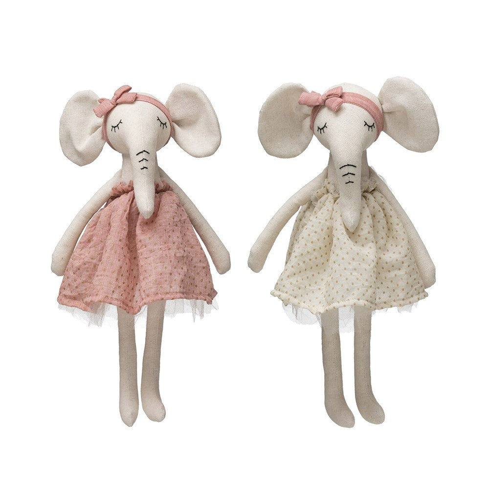 Whimsy Linen Elephant in Dress