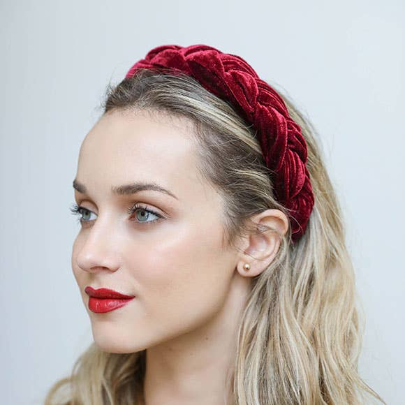 Cranberry Braided Headband