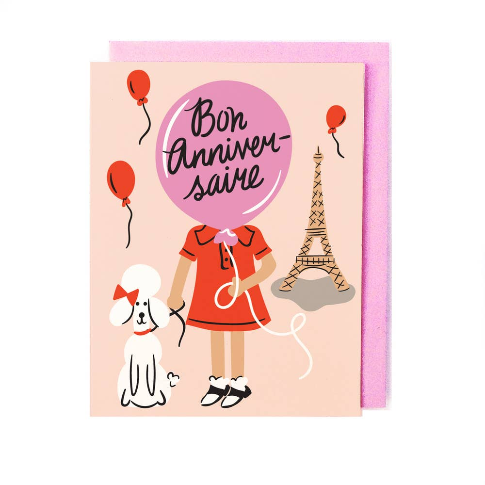 French Birthday Card