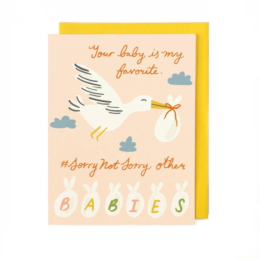 Favorite Baby Card PINK