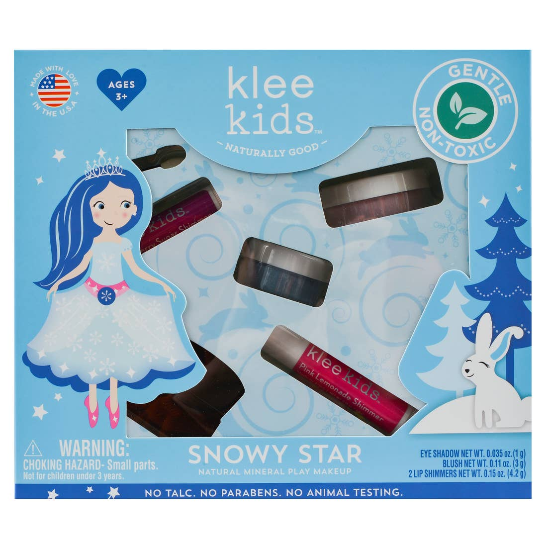 Snowy Star Fairy - Klee Kids Natural Mineral Play Makeup Kit
