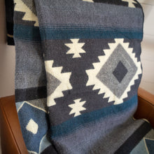Load image into Gallery viewer, Andean Alpaca Wool Blanket - Midnight