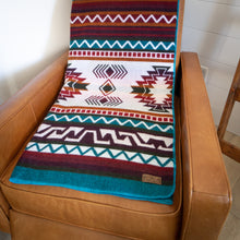 Load image into Gallery viewer, Andean Alpaca Wool Blanket - Turquoise