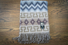 Load image into Gallery viewer, Tumi Alpaca Wool Throw Blanket - Inca Design (Salmon/Brown)