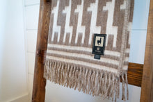 Load image into Gallery viewer, Tumi Alpaca Wool Throw Blanket - Alpaca Design (Beige)