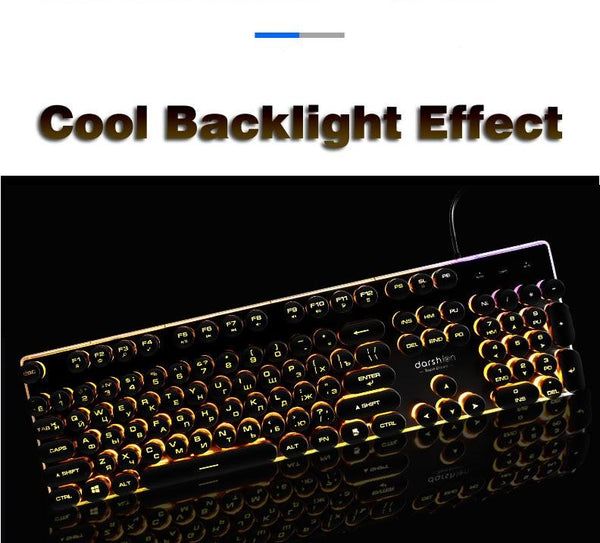 Glowing Retro Mechanical Keyboard