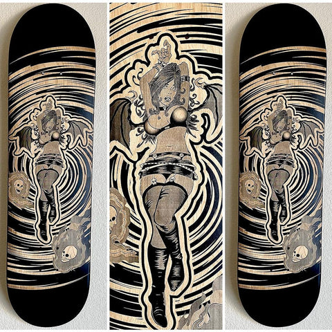 """Love Hurts"" Custom Skate Deck"