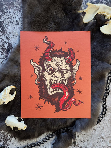 """Krampus"" Screenprint"
