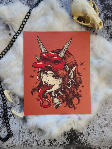 """Lady Krampus"" Screenprint"