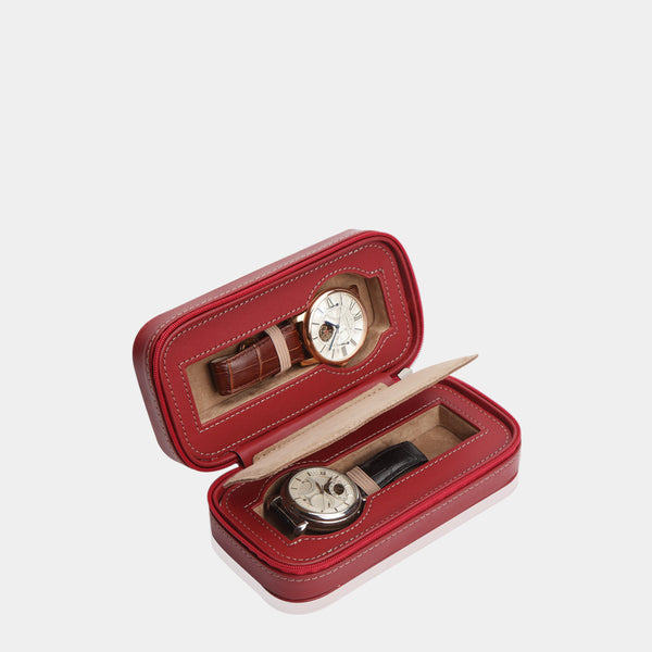 Watchcase Invia for 2 Watches Red - MODALO GmbH