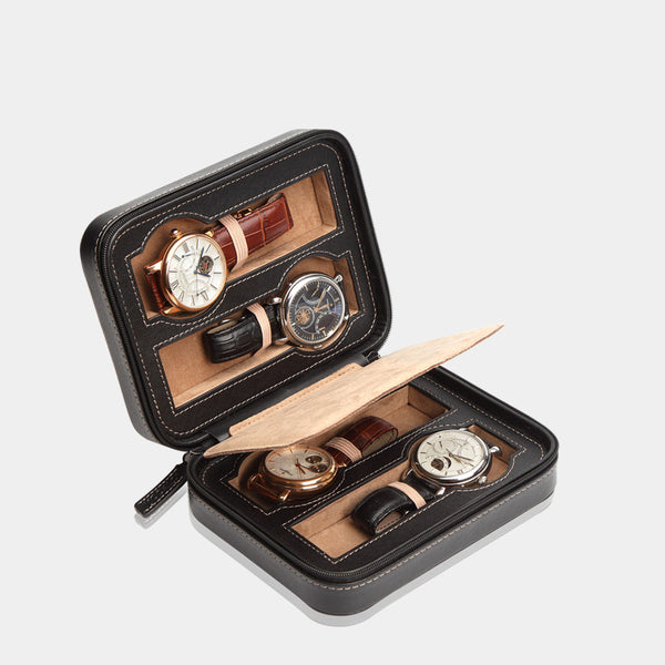 Watchcase Invia for 4 Watches Black - MODALO GmbH