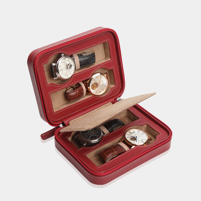 Watchcase Invia for 4 Watches Red - MODALO GmbH