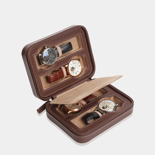 Watchcase Invia for 4 Watches Brown - MODALO GmbH