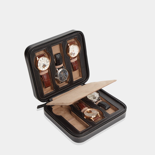Watchcase Invia for 6 Watches Black - MODALO GmbH