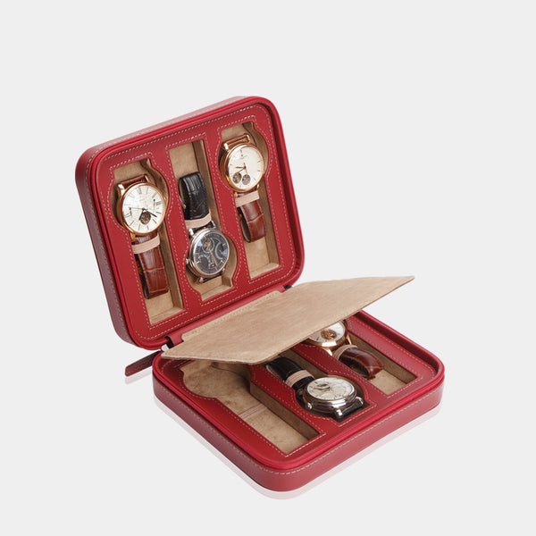 Watchcase Invia for 6 Watches Red - MODALO GmbH