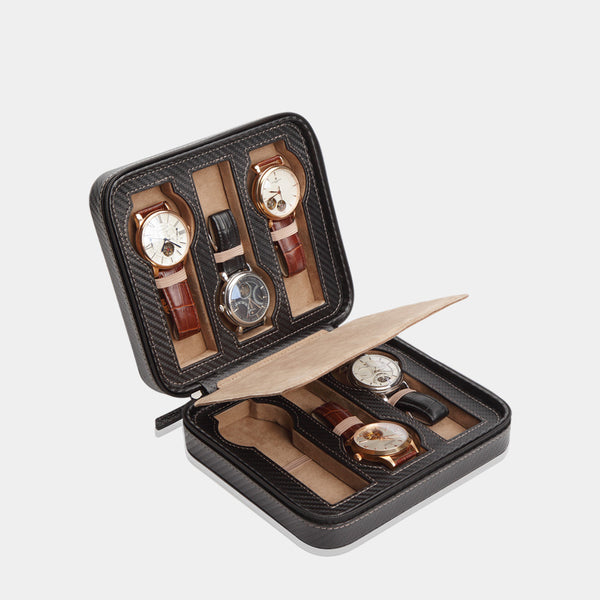 Watchcase Invia for 6 Watches Carbon - MODALO GmbH