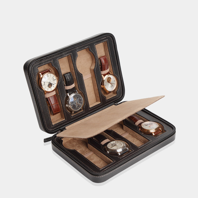 Watchcase Invia for 8 Watches Black - MODALO GmbH