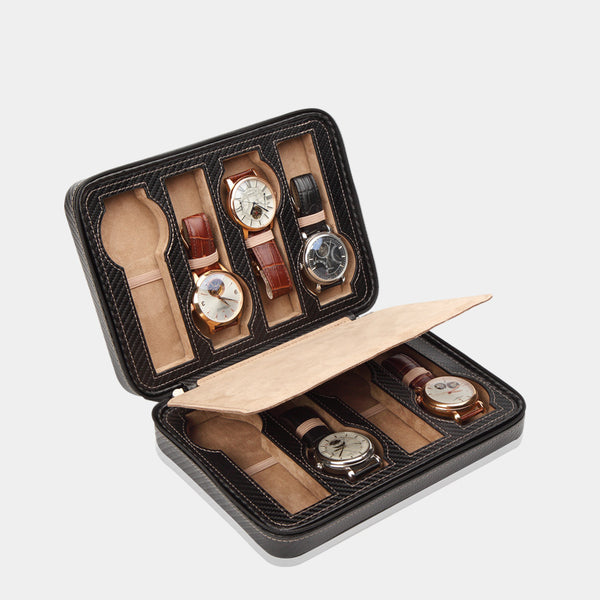 Watchcase Invia for 8 Watches Carbon - MODALO GmbH