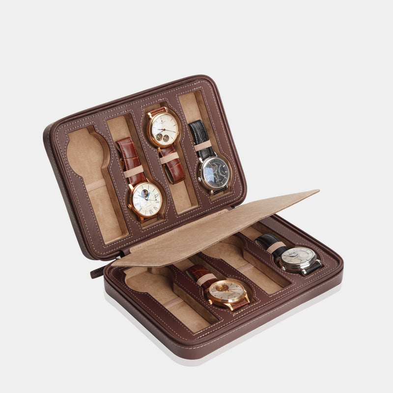 Watchcase Invia for 8 Watches Brown - MODALO GmbH