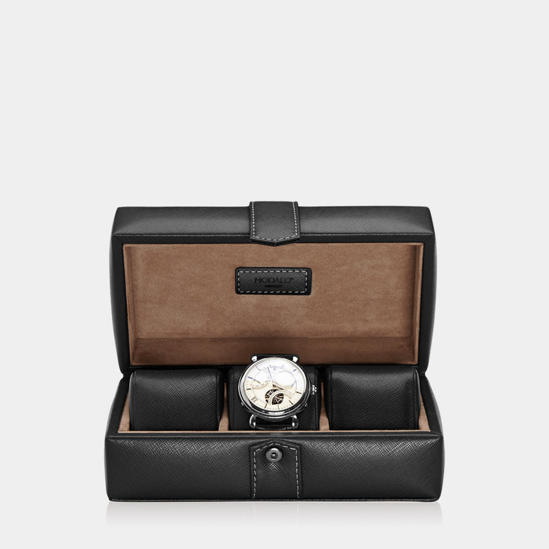 Watchcase Gallante for 3 watches Black - MODALO GmbH