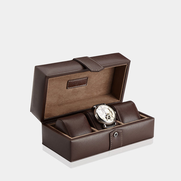 Watchcase Gallante for 3 watches Brown - MODALO GmbH