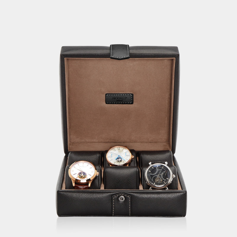 Watchcase Gallante for 6 watches Black - MODALO GmbH