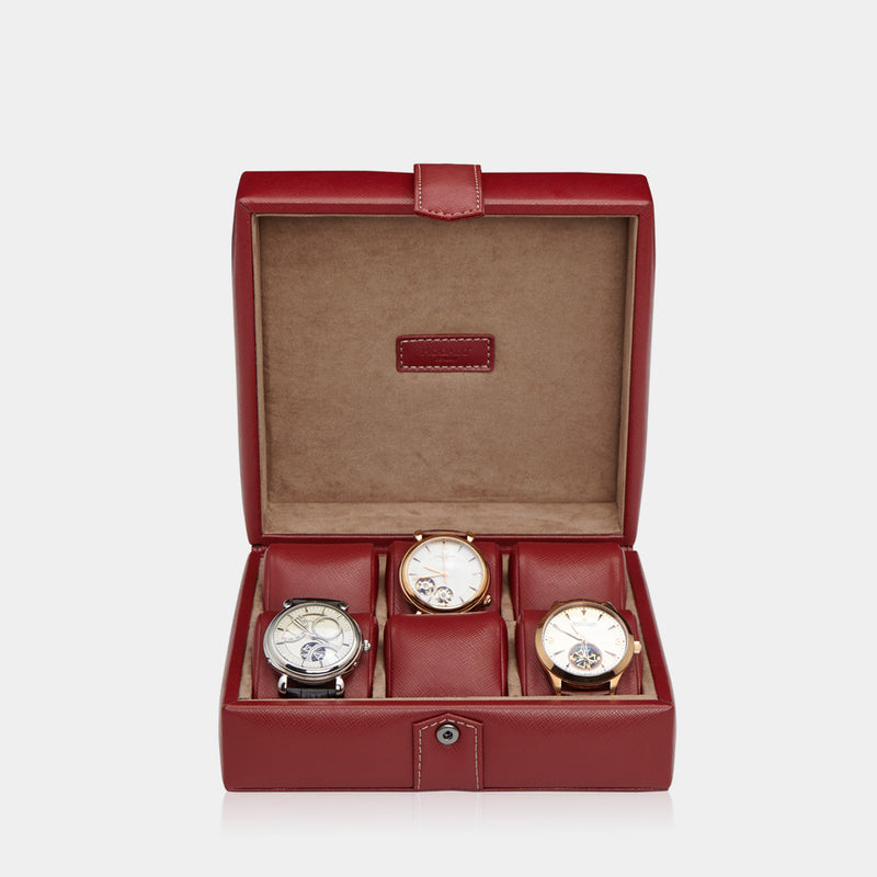 Watchcase Gallante for 6 watches Red - MODALO GmbH