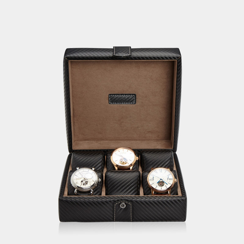 Watchcase Gallante for 6 watches Carbon - MODALO GmbH