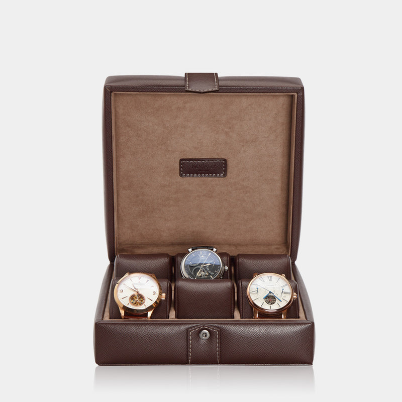Watchcase Gallante for 6 watches Brown - MODALO GmbH
