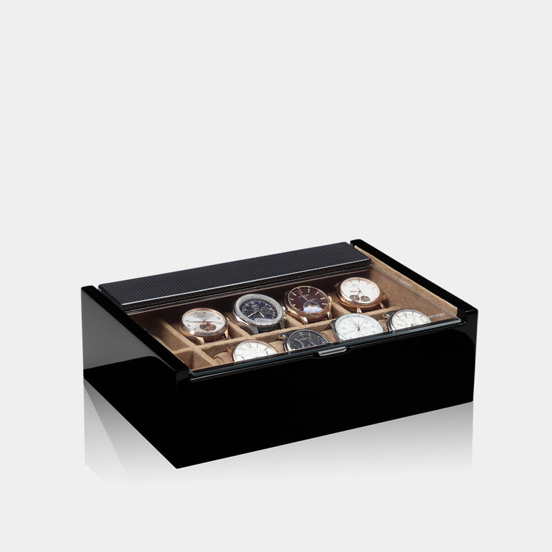 Lucia 10 Piece Watch Box Carbon - MODALO GmbH