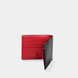 HIRSCHHORN Men´s Leather Wallet Black-red - MODALO GmbH