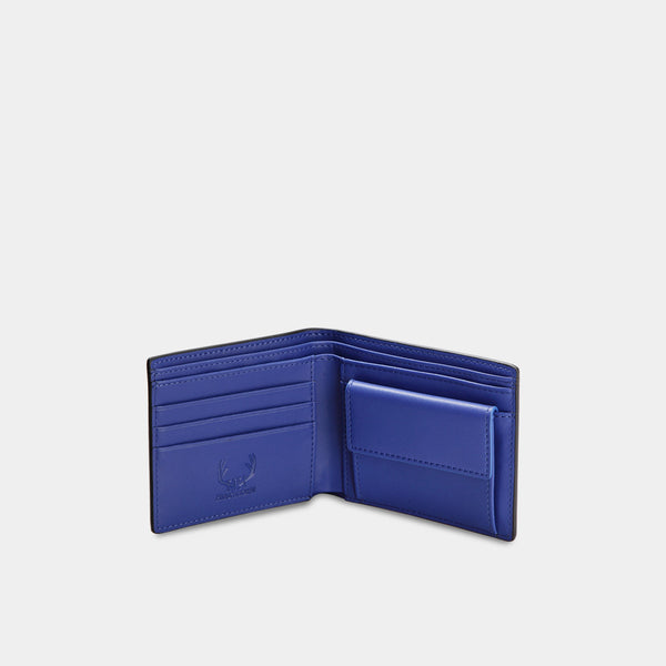 HIRSCHHORN Men´s Leather Wallet Black-blue - MODALO GmbH