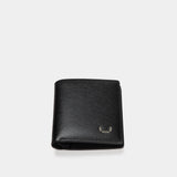 HIRSCHHORN Men´s Slim Leather Wallet Black - MODALO GmbH
