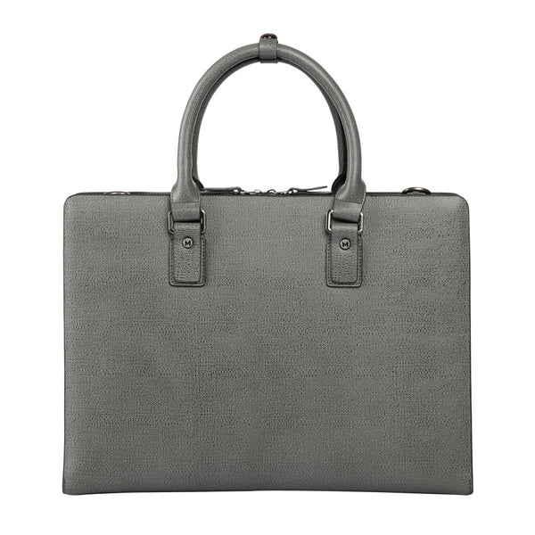 MODALO Business leather bag DUBAI Grey - MODALO GmbH