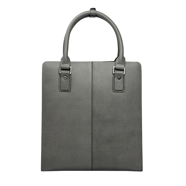 MODALO Business leather bag DUBAI Grey S - MODALO GmbH