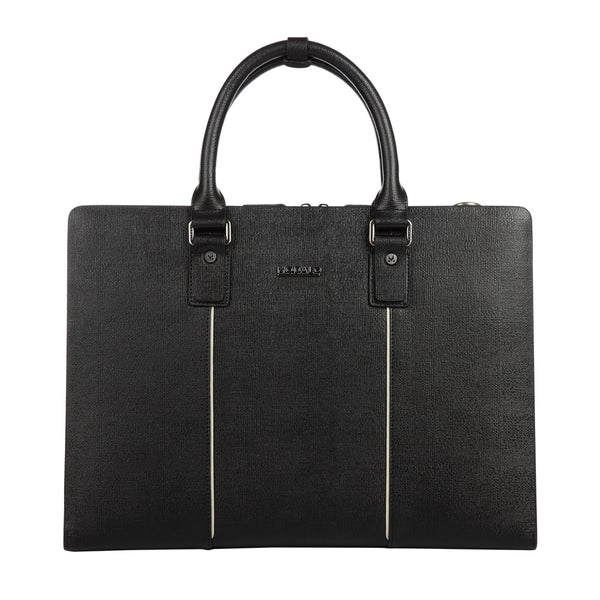 MODALO Business leather bag DUBAI Black - MODALO GmbH