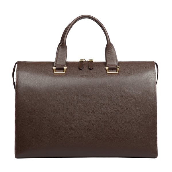 MODALO Business leather bag LONDON Brown - MODALO GmbH