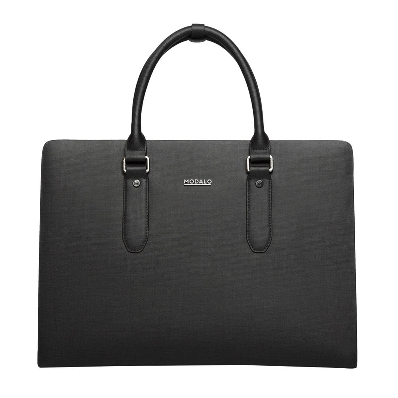 MODALO Business leather bag MILANO Black - MODALO GmbH