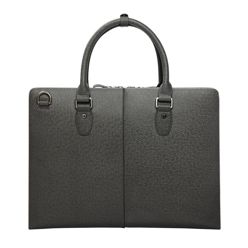 MODALO Business leather bag Tokio Drakgrey - MODALO GmbH
