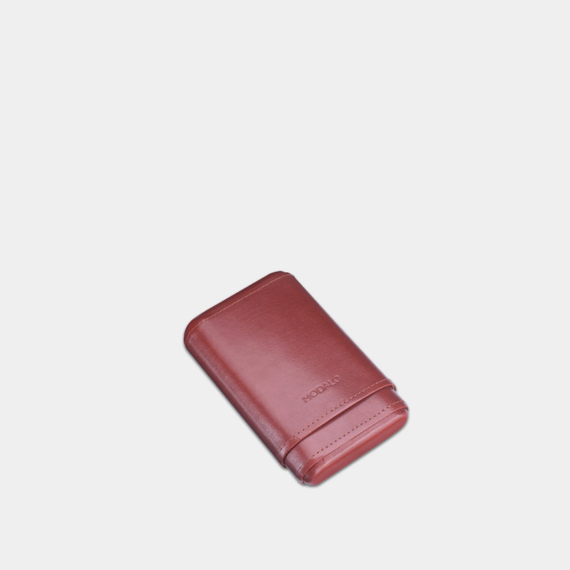 Cigar Leather Case for 5 Cigars Brown - MODALO GmbH