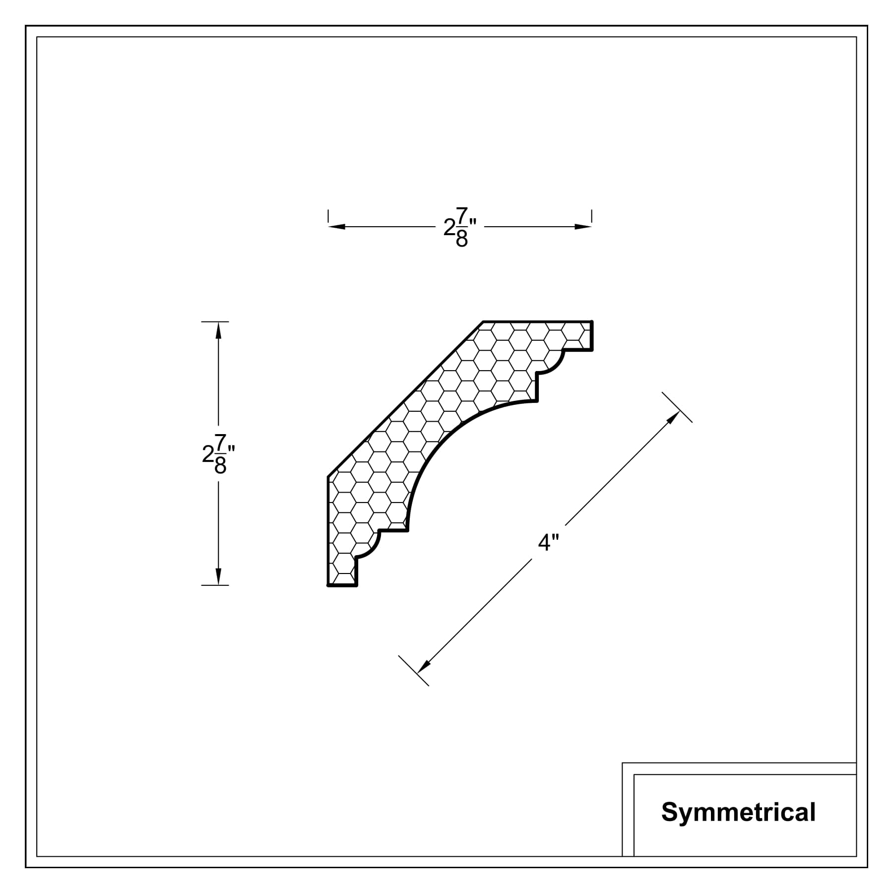 Crown moulding - Symmetrical Cross Sections