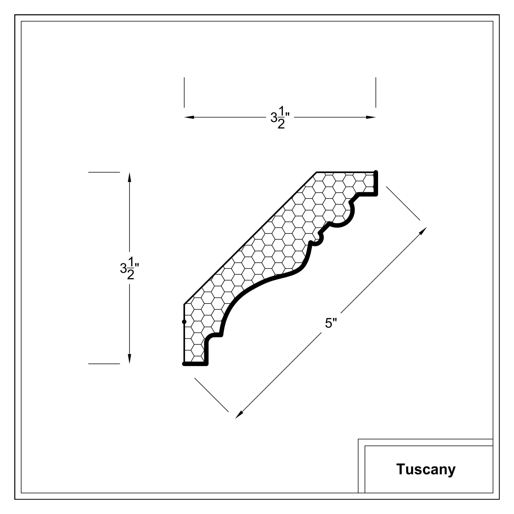 Crown moulding - Tuscany Cross Sections