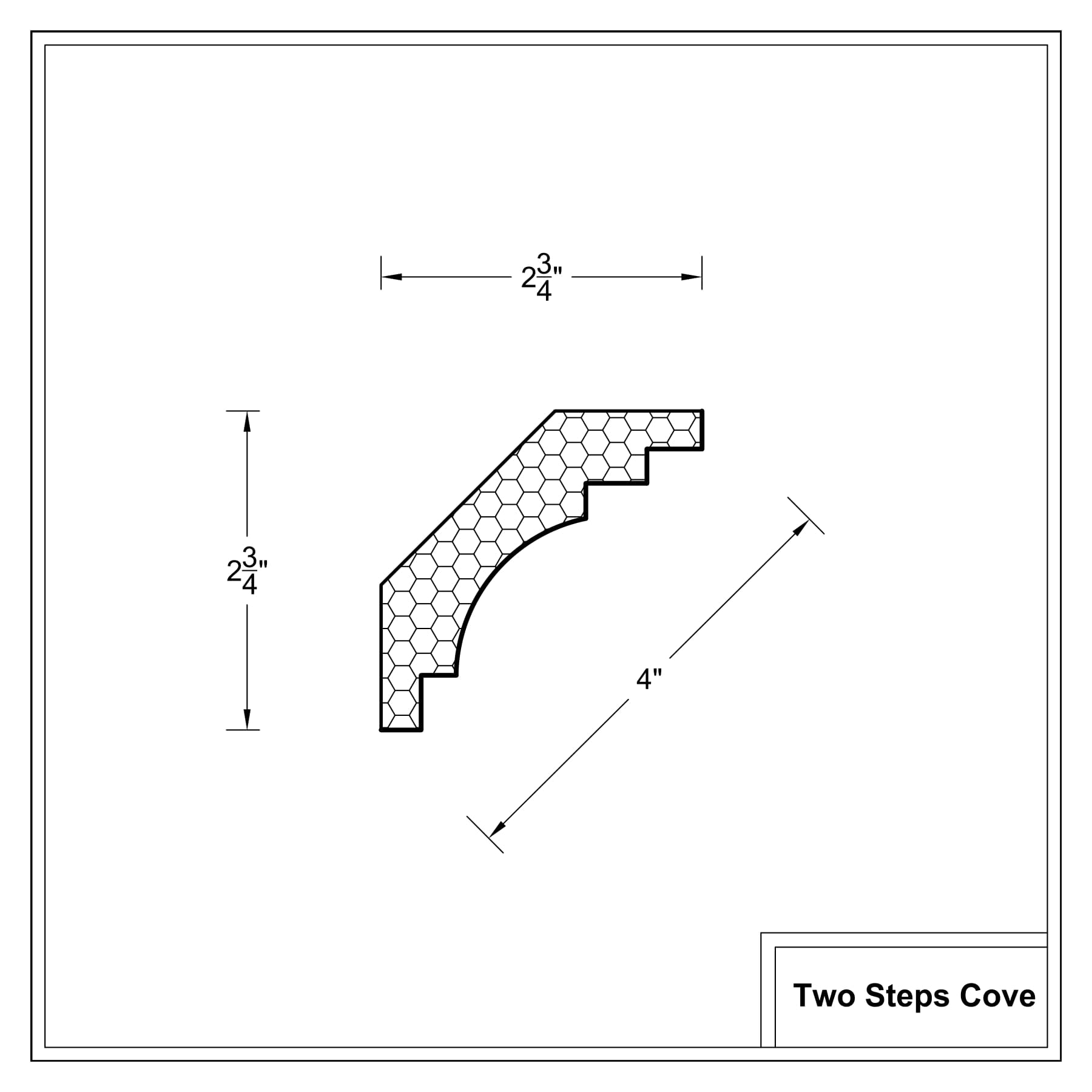 Crown moulding - Deco Cross Sections