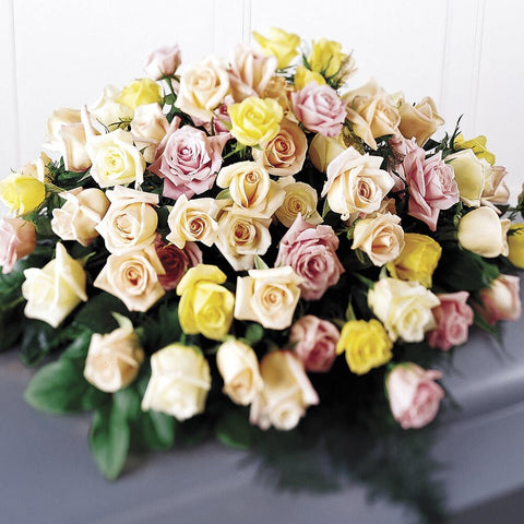 Exclusively Roses Pastel Casket