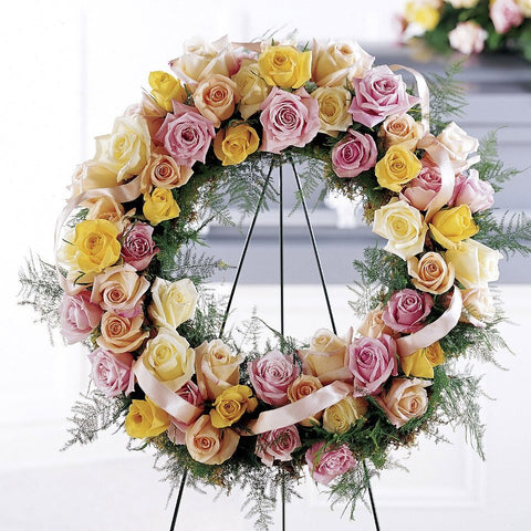 Exclusively Roses Pastel Wreath