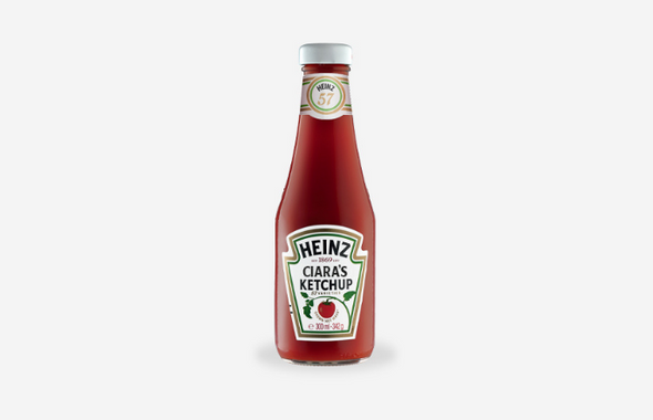 Personalised Tomato Ketchup (Glass)