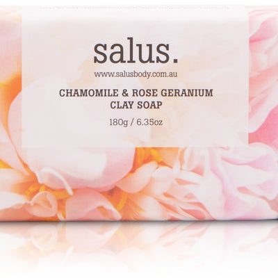 Salus Chamomile & Rose Geranium Clay Soap - pod&seed online