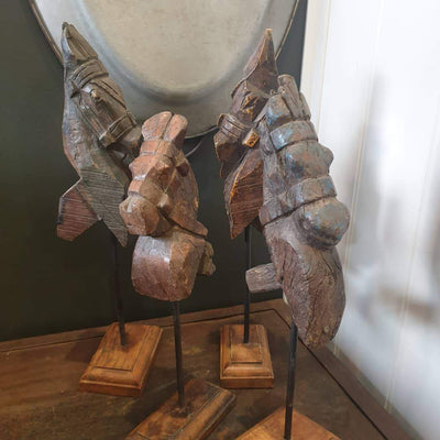 Decorative Carved Horses - pod&seed online